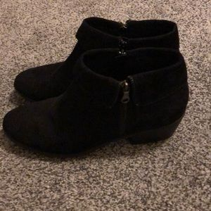 X-Appeal , Black Suede Booties, Size 10